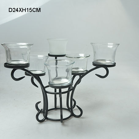 Chinese Candle Holder Glass Ware Export