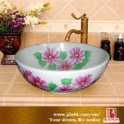 Chinese Colorful Decorative Good Quality Art Bathroom Ceramic Basin