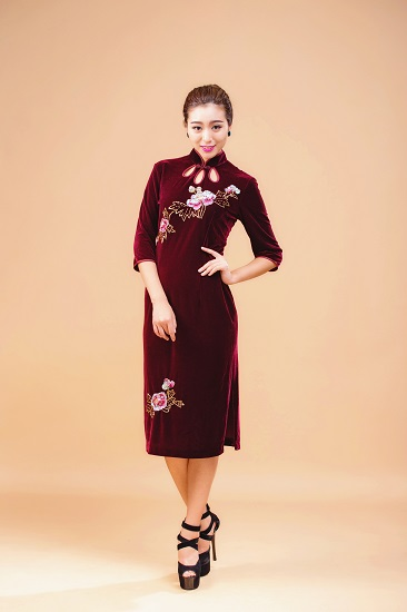 Chinese Vintage Cheongsam Plus Size Qipao Evening Dress
