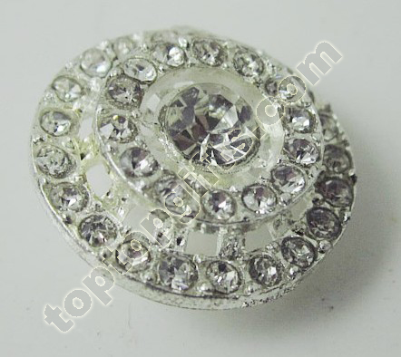 Circle Rhinestone Button Garment Accessories