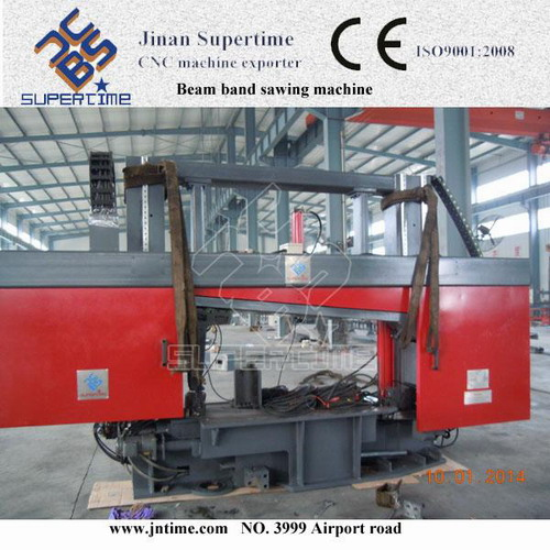 Cnc Rotation Angle Band Sawing Machine For H Beam