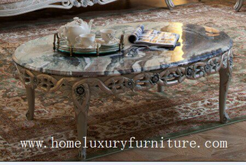 Coffee Table Solid Wood Marble Antique Furniture Fc 103a