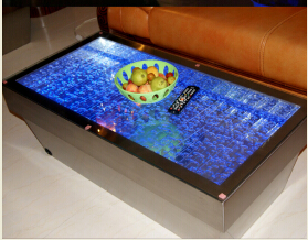Coffee Tea Table With Water Bubble And Rgb Led Light For Home Club Hotel