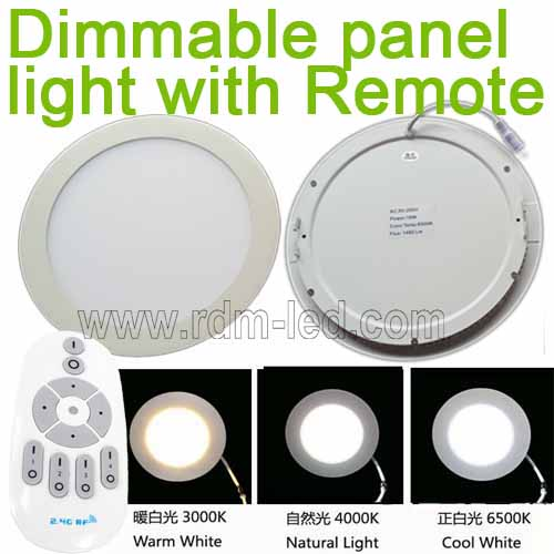 Color Change And Dimmable Round Led Panel Light With Remote