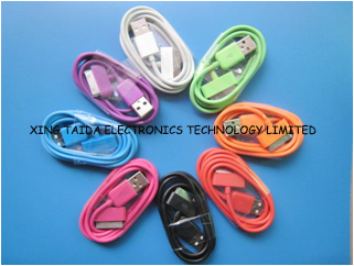 Colored 30pin To Usb Cable For Iphone 4 4s Ipad Ipod Touch Nano 8 Colors