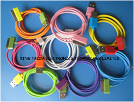 Colorful 30pin To Usb Cable For Iphone 4 4s Ipad Ipod Touch Nano 8 Colors Available Super Flexible