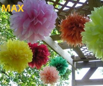 Colorful 4 36 Tissue Paper Pom Poms Flower Balls For Decoration
