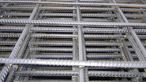 Concrete Reinforcing Mesh Reinforces Building Wall Construction