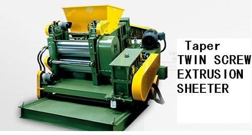 Cone Shaped Twin Screw Extrusion Sheeting Mill