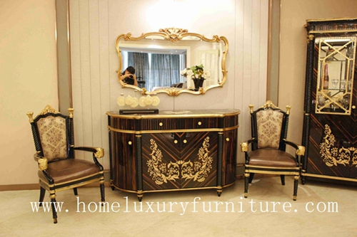 Console Table Decorations Wood With Mirror Italian Style Antique Wall