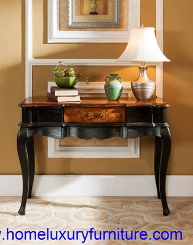 Console Table Wood With Mirror Italian Style Antique Wall Jy 946