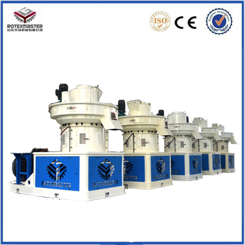 Continously Working Wood Fuel Pellet Machine From Sawdust Corn Straw Shell