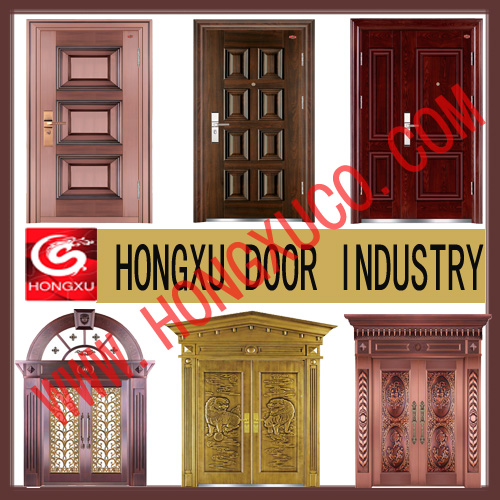 Copper Door,steel Security Door, Steel Wood Security Door, Interior Wooden Door And Steel Wood Inter