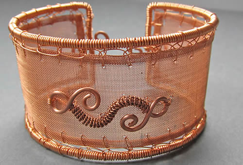 Copper Woven Mesh With Many Opening Sizes Available