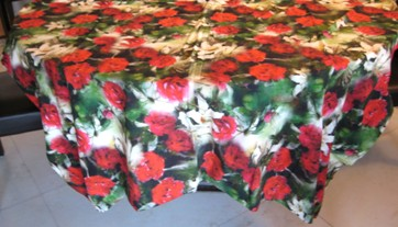 Cotton Table Cloth With Floral Design