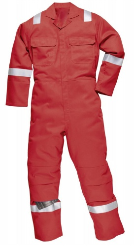 Cotton Twill Fire Retardant Coverall With Reflective Tape