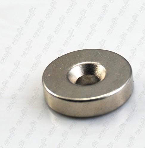 Countersunk Ring Neodymium Permanent Magnets