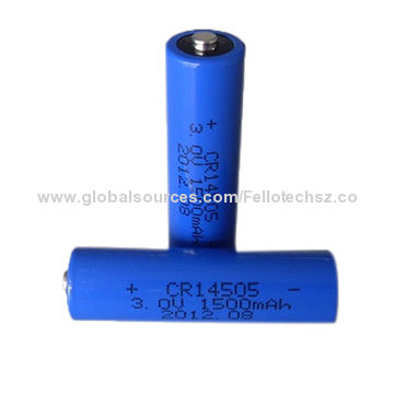 Cr14505 Limno2 Aa Size 3 0v Primary Lithium Battery For Ramway Home Electric Mini Appliances