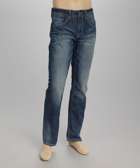 Creativeindiaexports Faded Straight Leg Jeans