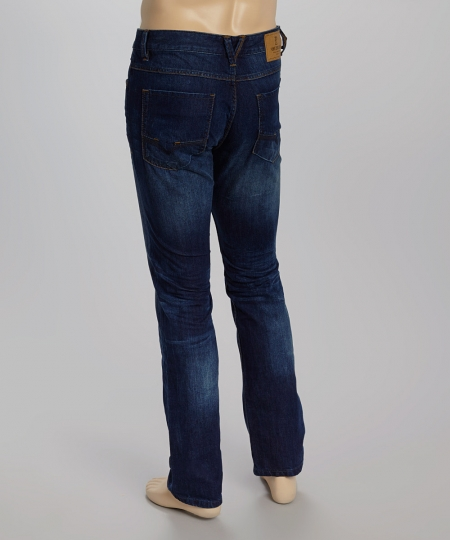 Creativeindiaexports Whiskered Straight Leg Jeans Back