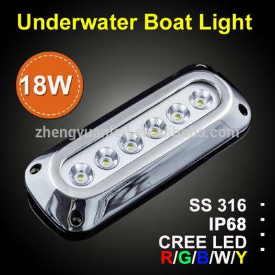 Cree 18w Ip68 Blue Led Underwater Boat Light For Navigation Lighting
