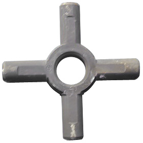 Cross Axle Made Of Alloy Steel Forging Process Strict Qc Is Enforced At All Stages