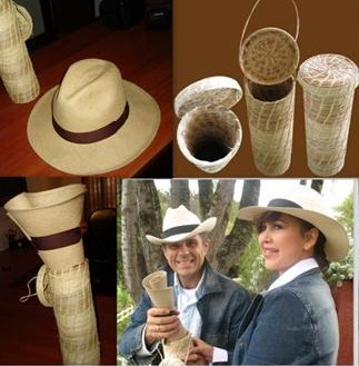 Crushable Panama Hat And Beautiful Container