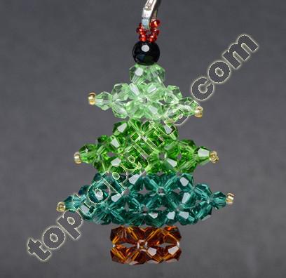 Crystal Beaded Christams Tree Charm