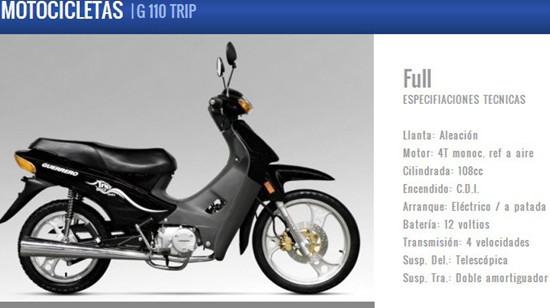 Cub Motorycle G110 Trip Full