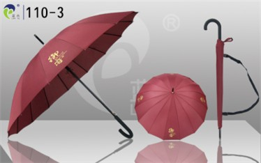 Curved Handle Straight Durable Hot Selling Umbrella 110 3