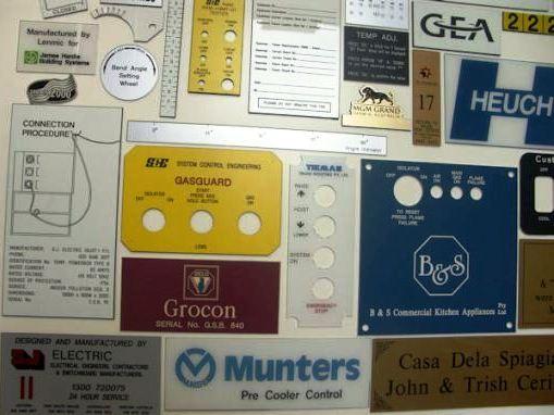 Custom Made Engraved Labels