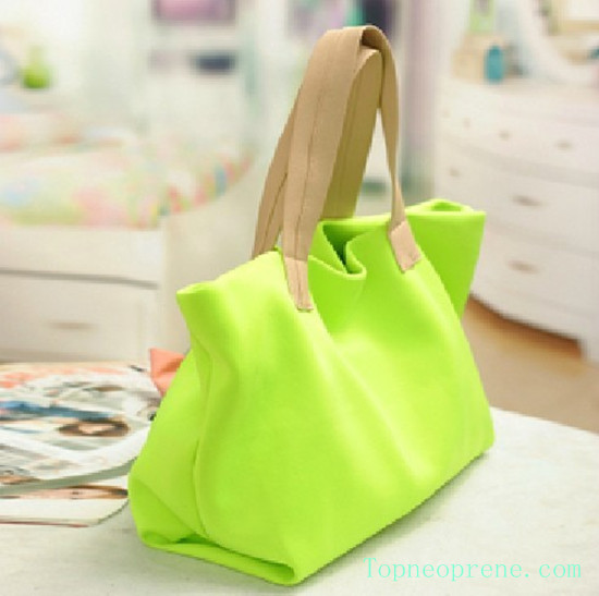 Custom Neoprene Shopping Shoulder Bag Handbag Tote Carry