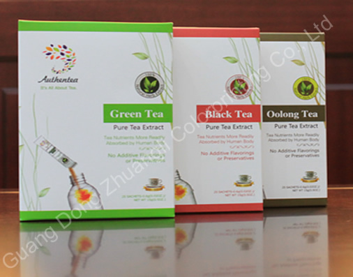 Custom Printed Paper Packaging Box For Tea