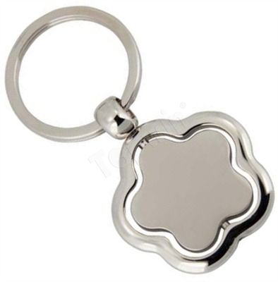 Customized Metal Keychain Flower Shape