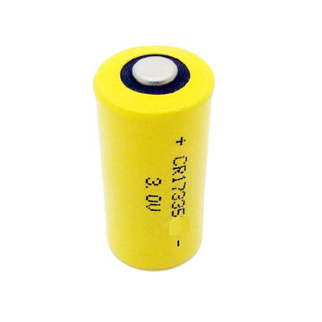 Cylindrical Battery Water Meter Gas 3v Primary Lithium Cr17335 For Camera