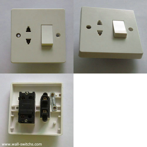 D7 One Gang 16a Switched Multifunction Socket British Standard Made In China Bakelite Cover