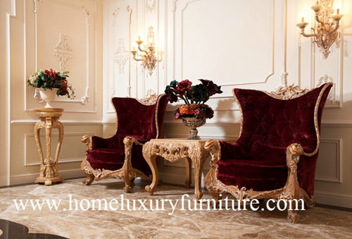 Decoration Chairs Wingback With Corner Table Wooden Entrance Ai 315