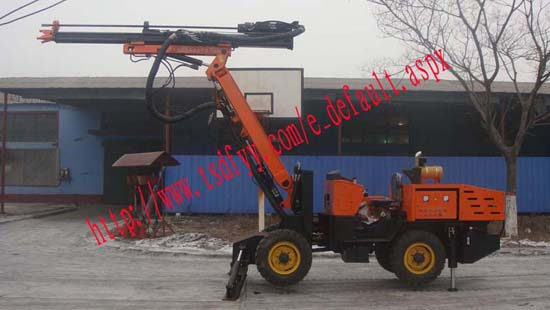 Df10 1bcdl Rubber Wheel Rock Drilling Rig