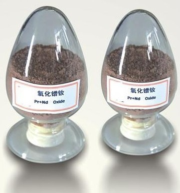 Didymium Oxide Gray And Brown Powder Hygroscopic Insoluble In Water But Soluble Acids Density 6 88g
