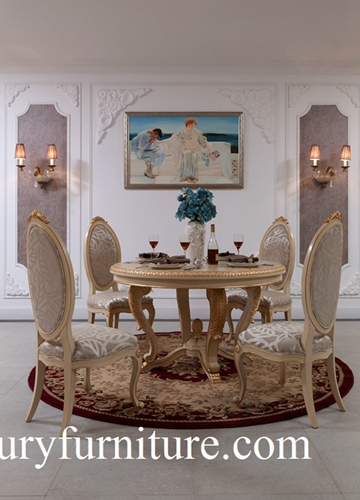 Dining Table And Chairs Neo Classical Room Sets Glass Cabinet Buffet Ft 102