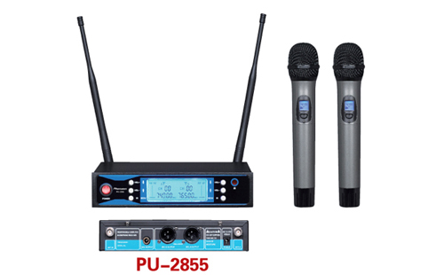 Double Channel Professional Uhf Wireless Microphone