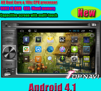 Double Din Android With 4 1 Version A9 Dual Core 1ghz Cpu Processor And Ddr3 1g Ram 8gb Inand Memory