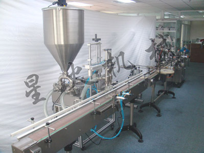 Double Headed Linear Chili Sauce Filling Machine