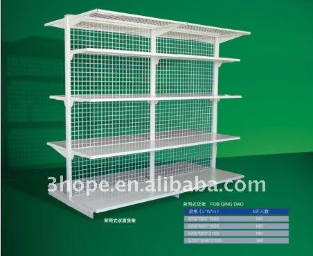 Double Sided Single Mesh Backboard Series Gondola Shelves