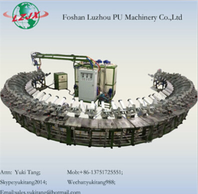 Double Single Density Shoe Sole Pu Pouring Machine