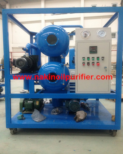 Double Stage Vacuum Transformer Oil Purifier Filtration