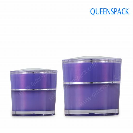 Double Wall Acrylic Jar For Cosmetic Packaging Q7776b
