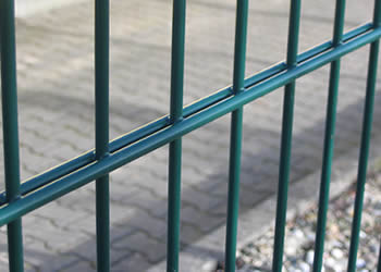 Double Wire Mesh Fence Galvanized And Pvc Coated