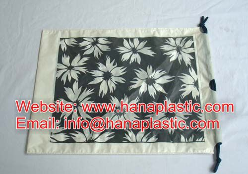 Drawstring Bag Type Of Handle Pp Hdpe Ldpe Rope Woven Material Quarter Link Customized