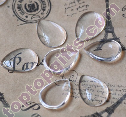 Drop Glass Cabochons Adhesive Stones Drawer Decoration